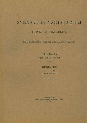 Svenskt Diplomatarium – Del 6:6