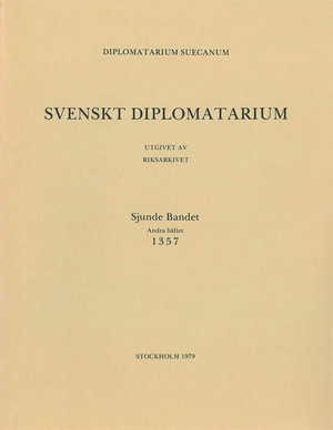 Svenskt Diplomatarium – Del 7:2