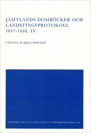 Jämtlands domböcker och landstingsprotokoll 1647–1648