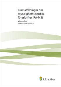 Framställningar om myndighetsspecifika föreskrifter (RA-MS)