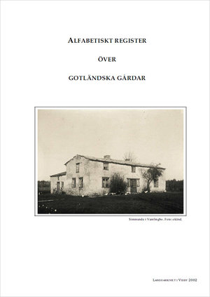 Alfabetiskt register över gotländska gårdar